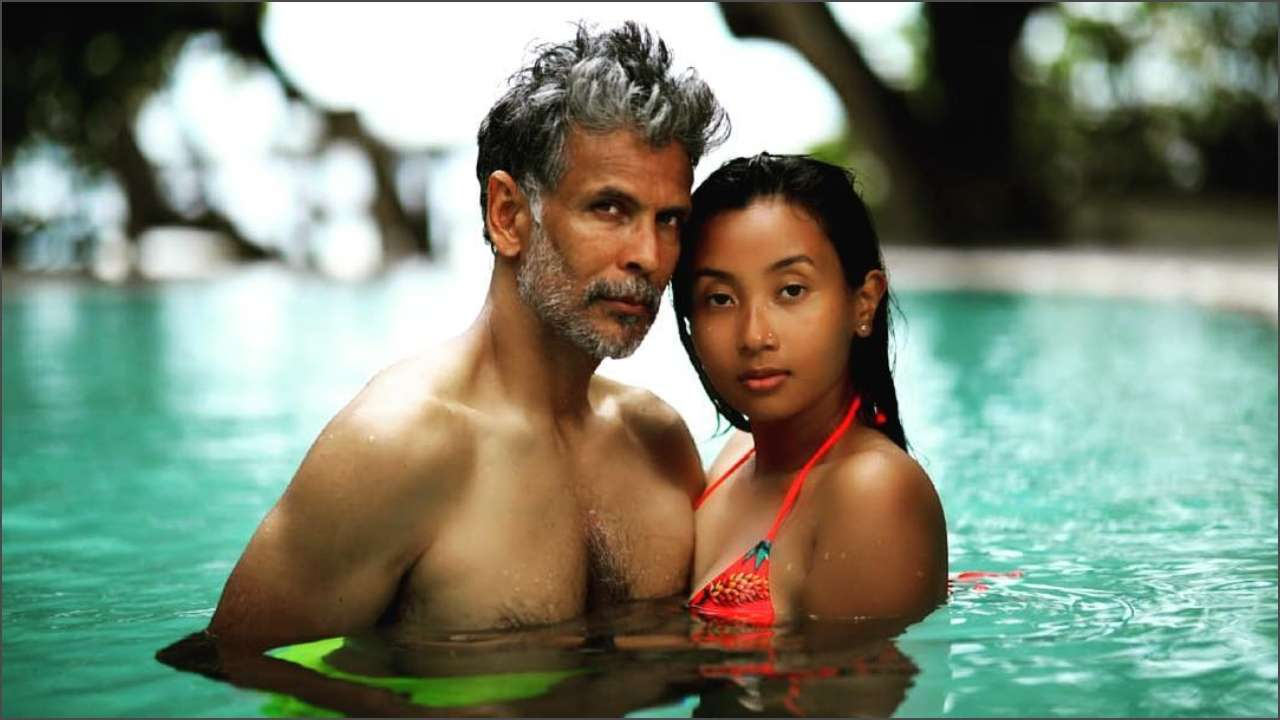 Image result for milind soman maldives pics, india.com