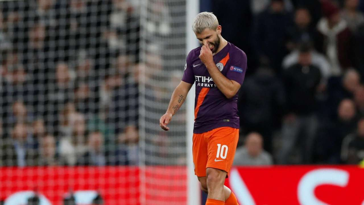 Champions League Spurs 1-0 Man City: Sergio Aguero misses penalty ...