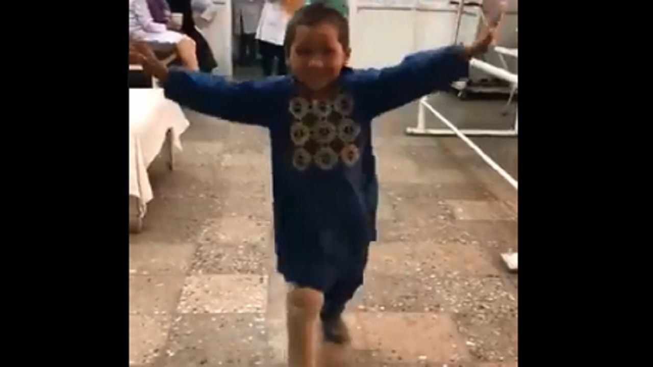 Watch: Afghan boy, who lost his leg in landmine blast, dances with joy after getting artificial leg
