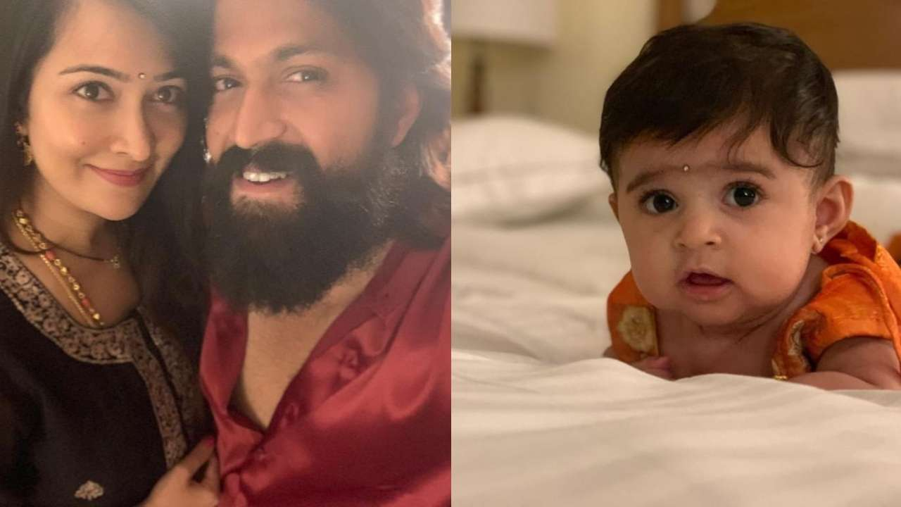Image result for kgf yash and radhika with baby