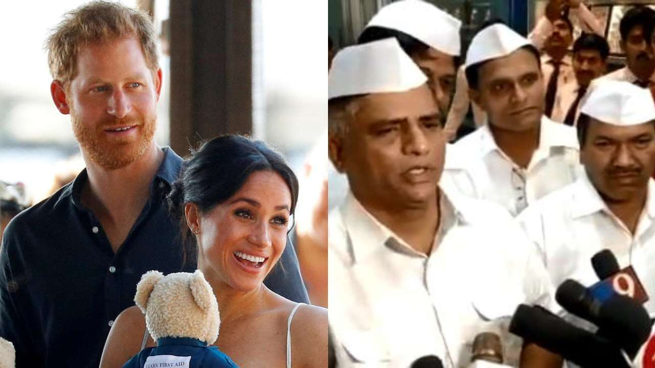 watch mumbai dabbawalas have very special gift for prince harry meghan markle s son archie harrison mountbatten windsor special gift for prince harry meghan
