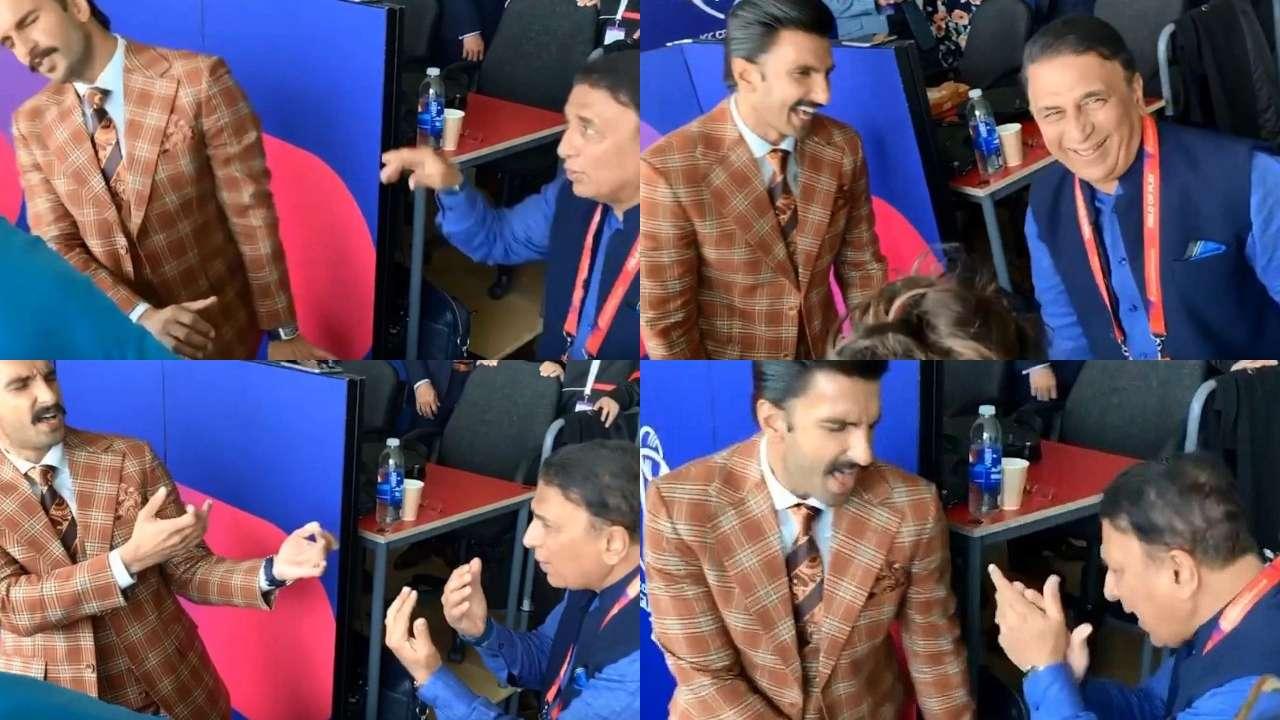 Watch: Ranveer Singh makes Sunil Gavaskar go crazy matching steps on 'Badan Pe Sitaare'
