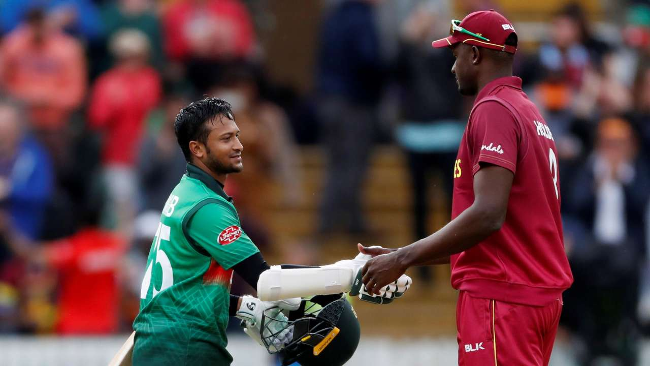 WI vs BAN, World Cup 2019: Bangladesh ride on Shakib Al Hasan's century to thrash West Indies