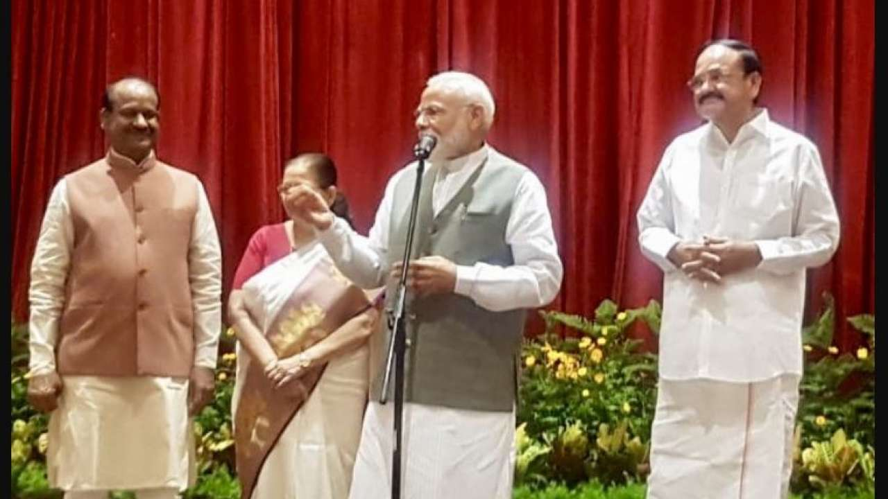 PM Modi during the all-party dinner