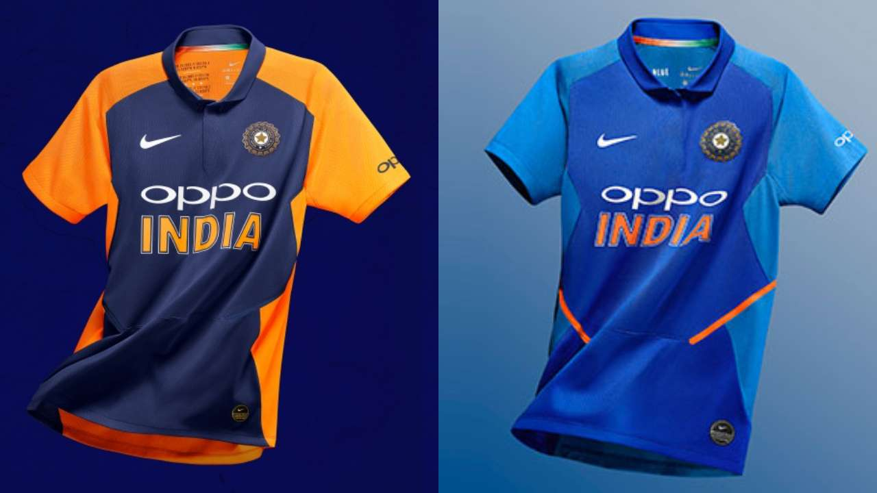 newest af96b 03dc9 India Orange Jersey Unveiled: Indian cricket team's new ...