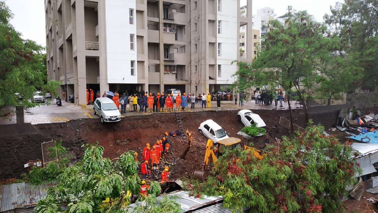 Pune: 17 killed after apartment complex wall collapses following continuous rains