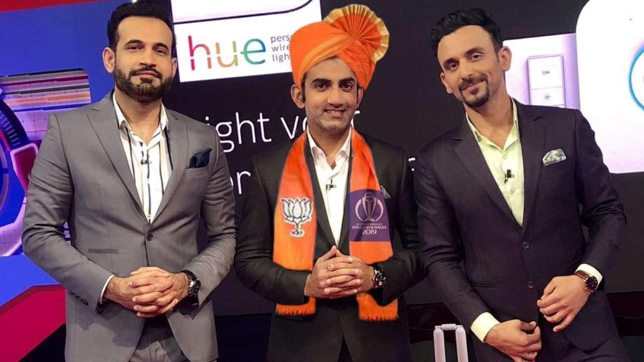 Gautam Gambhir's fake image promoting BJP at World Cup show goes