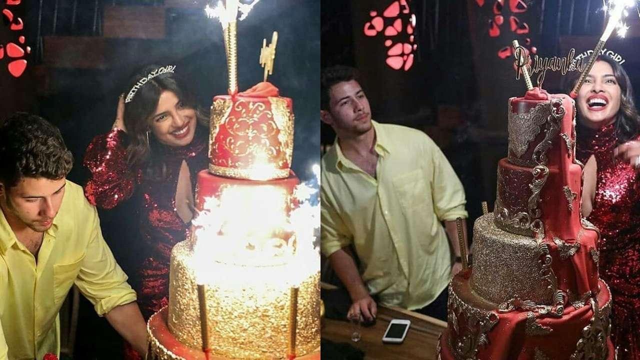 Enjoyable Photos Nick Jonas Arranges For Lavish 5 Tier Birthday Cake To Personalised Birthday Cards Petedlily Jamesorg