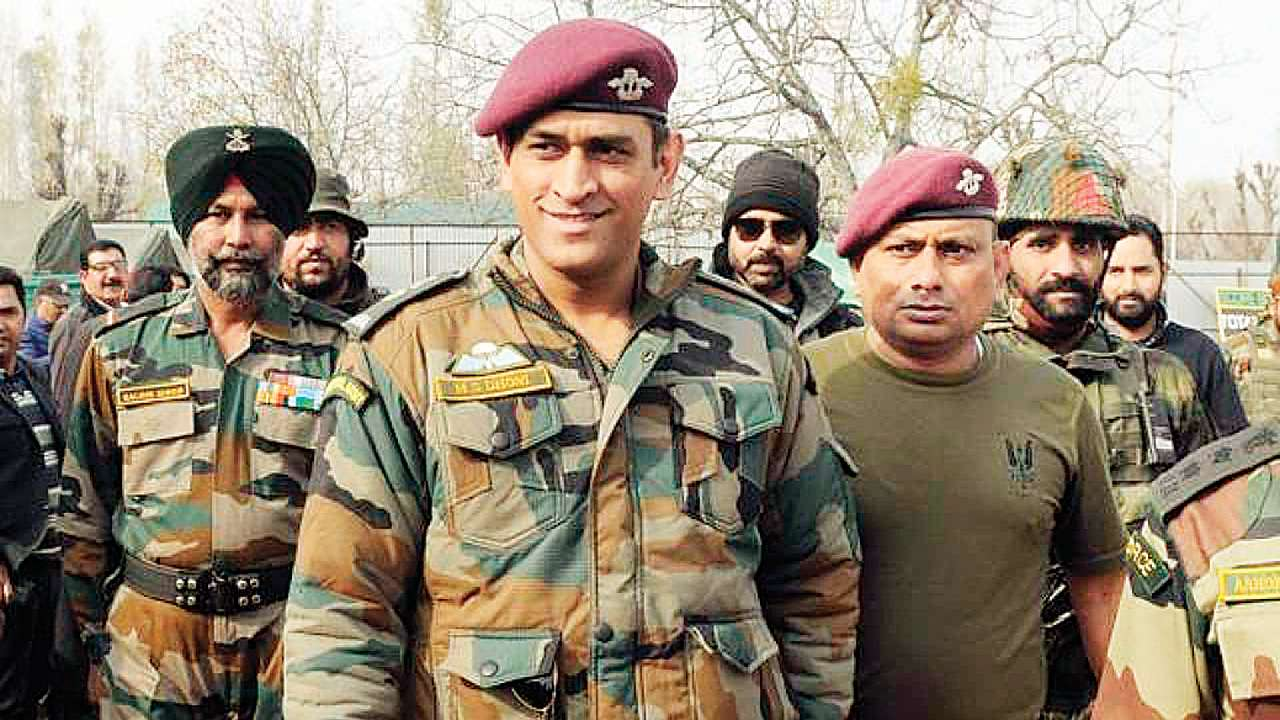 Image result for mahendra singh dhoni army