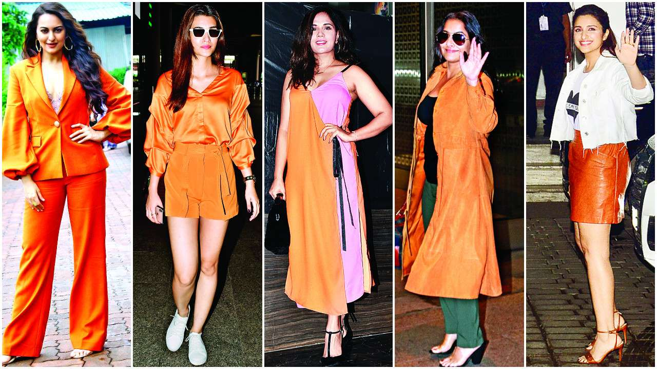 Orange is the new Black! From Sonakshi Sinha to Parineeti Chopra: B-Town is rocking this bright colour and how!