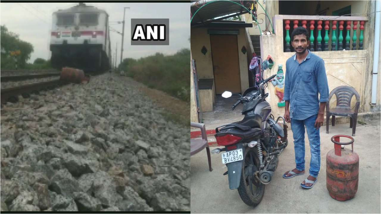 Andhra man keeps LPG cylinder on railway track for YouTube video
