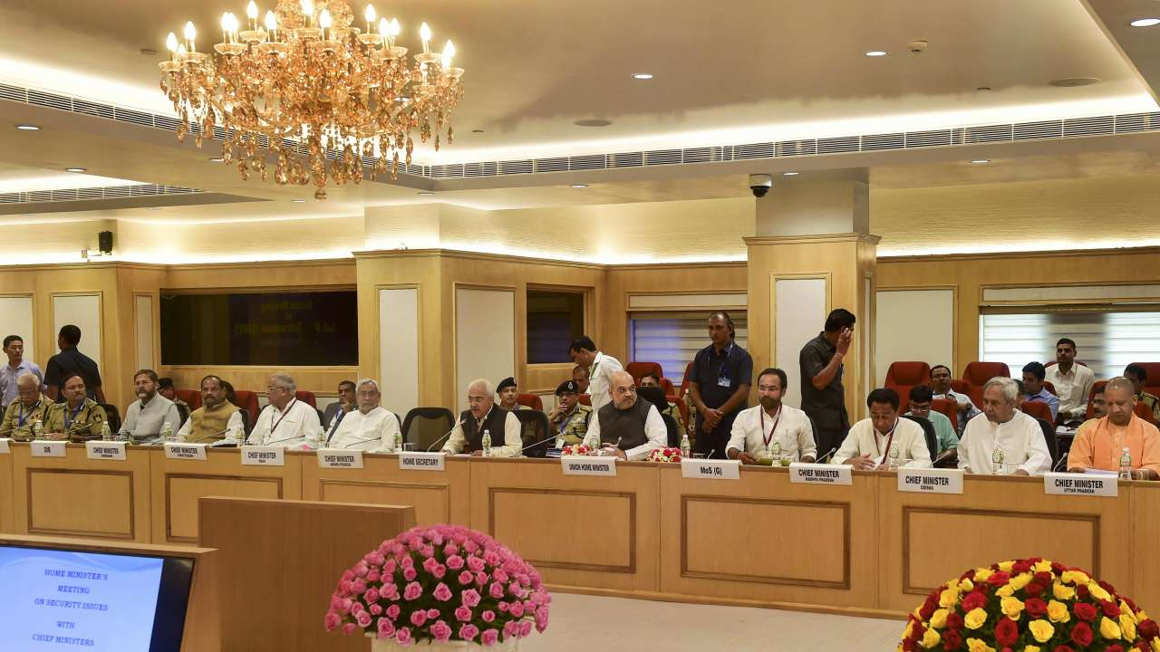 Image result for An important meeting with the Home Minister's Chief Minister to deal with the Naxals