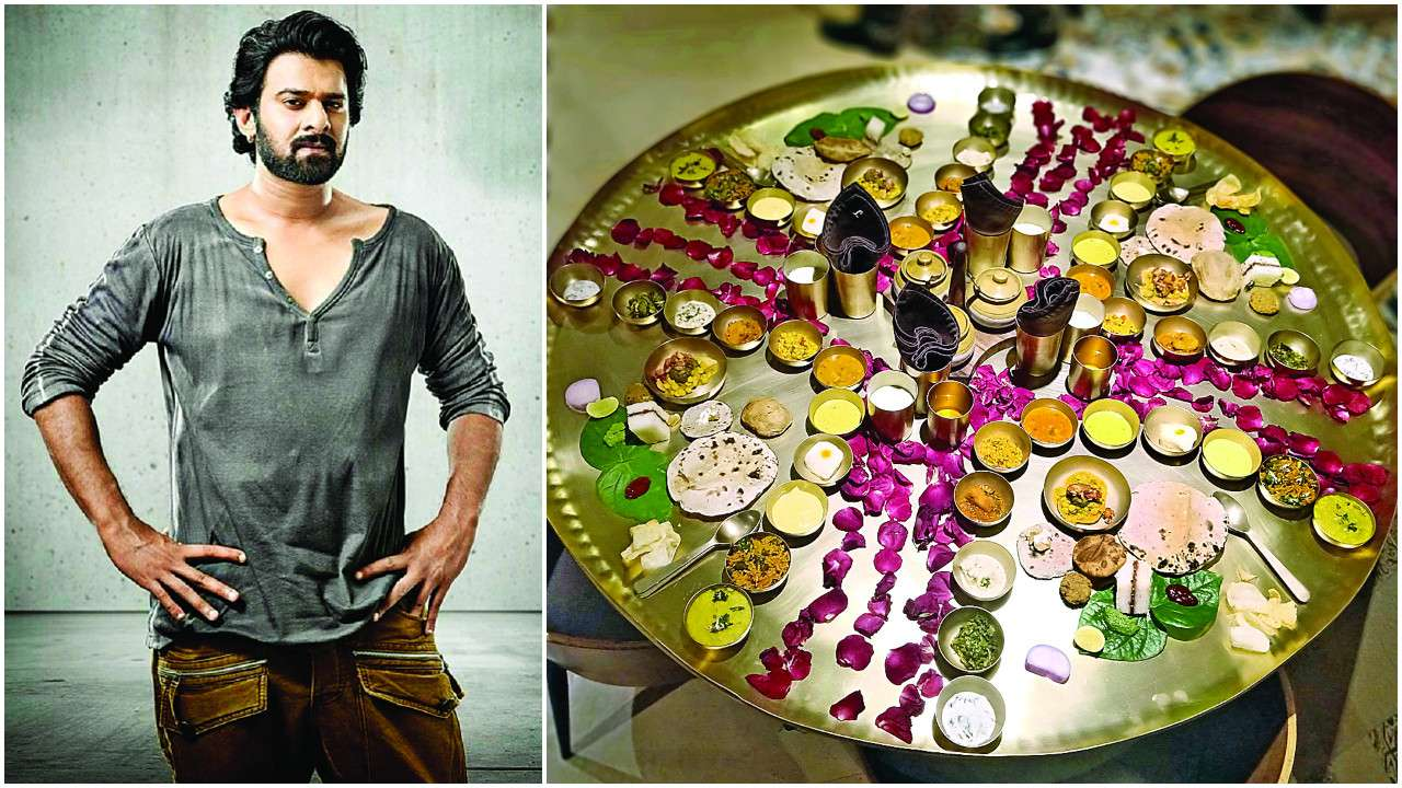 Prabhas (left) and The special Thali