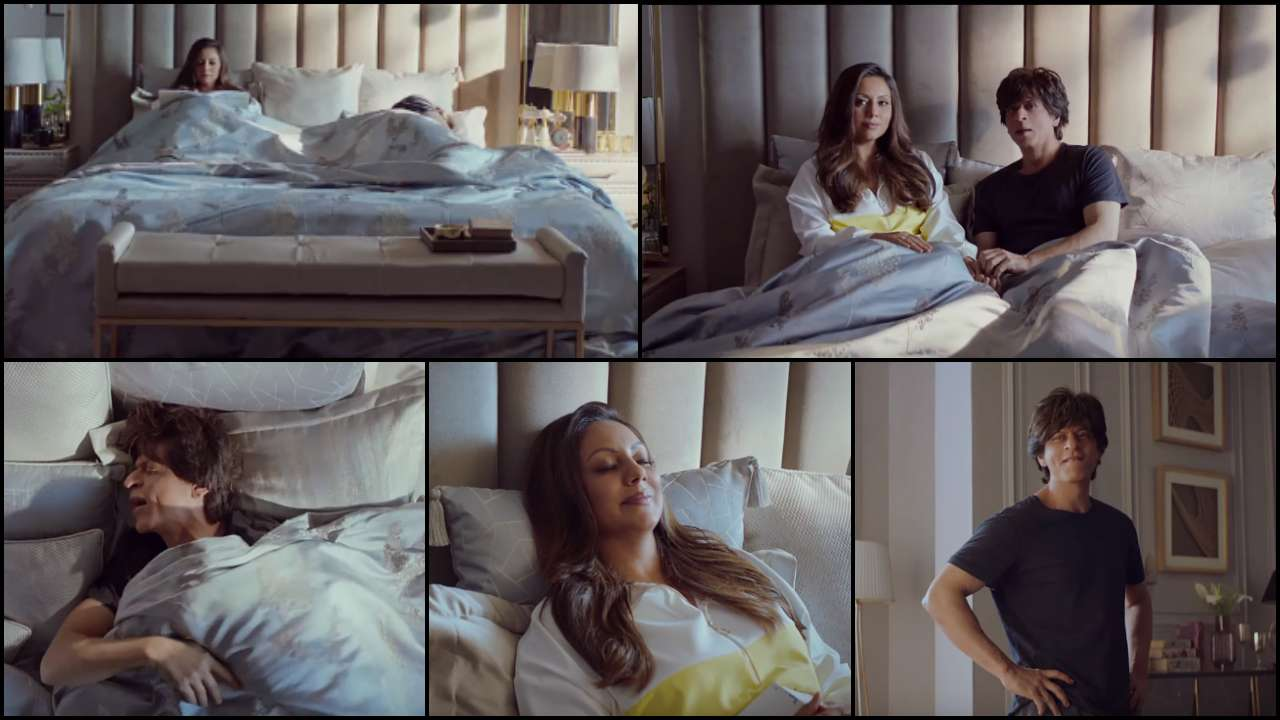 Watch: Gauri Khan exactly knows how to deal with 'Lazy' Shah Rukh Khan in the new TVC