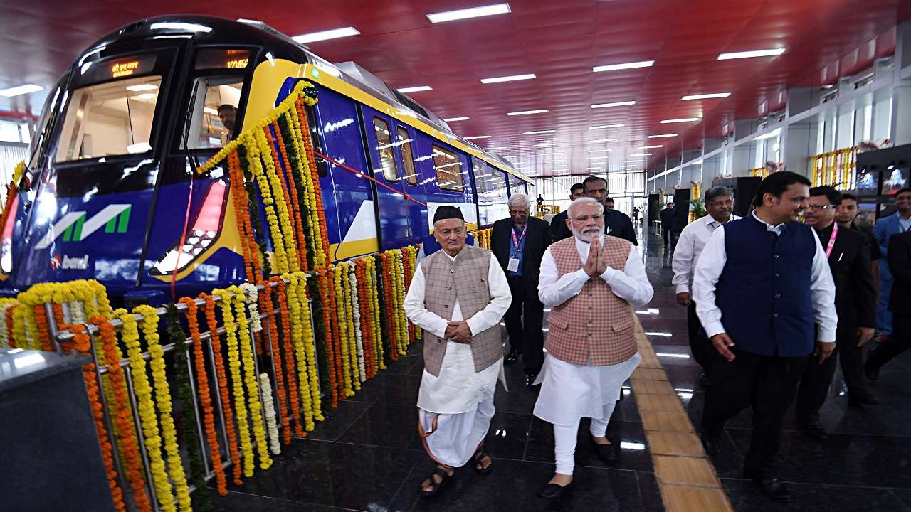 Image result for pm modi mumbai metro