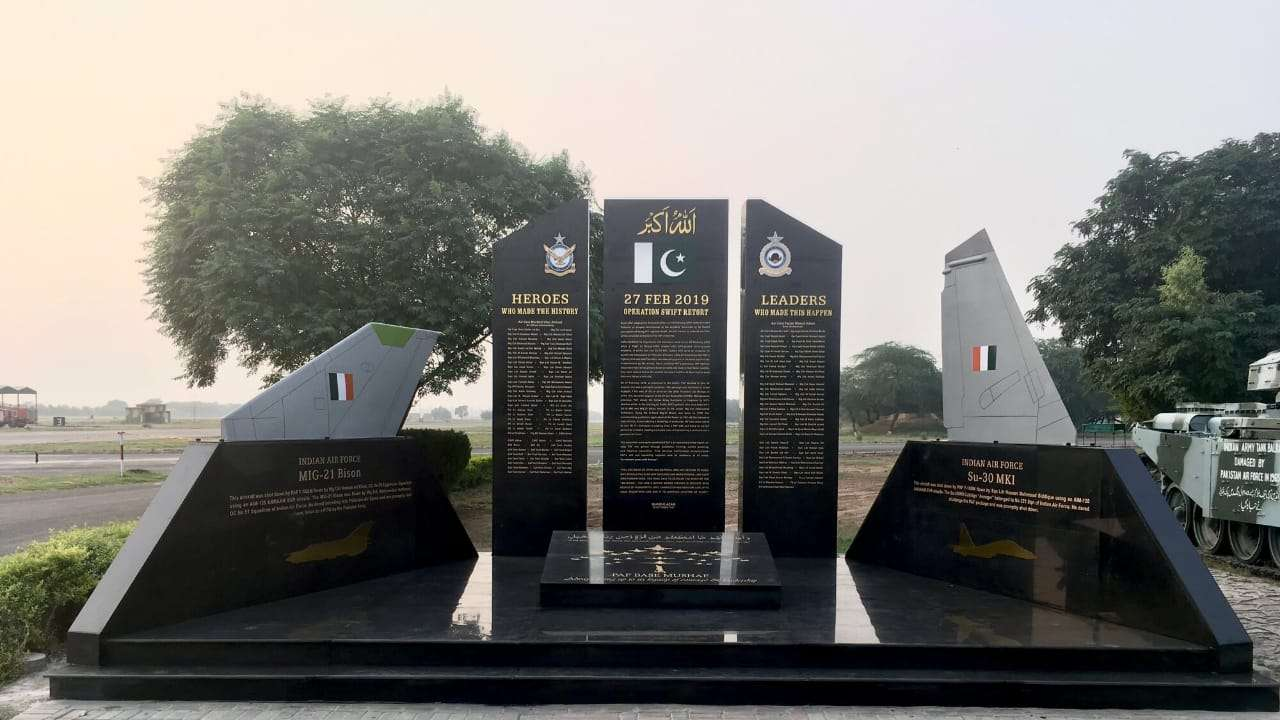 Image result for Pakistan Air Force made Operation Swift Retort Memorial at PAF