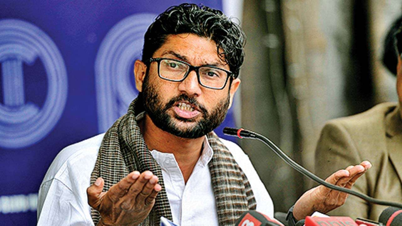 Jignesh Mevani joins rally in Ahmedabad to demand FIR in sadhu case