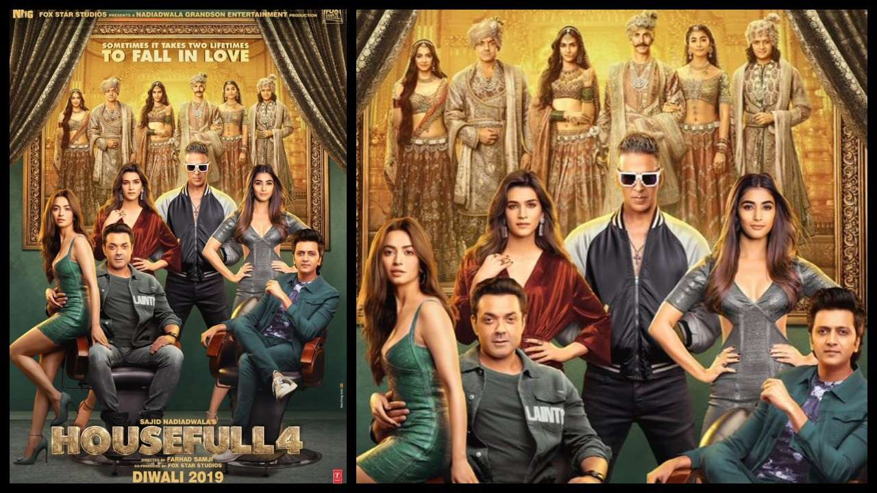 Housefull 4 new poster launched and shared by Akshay Kumar.
