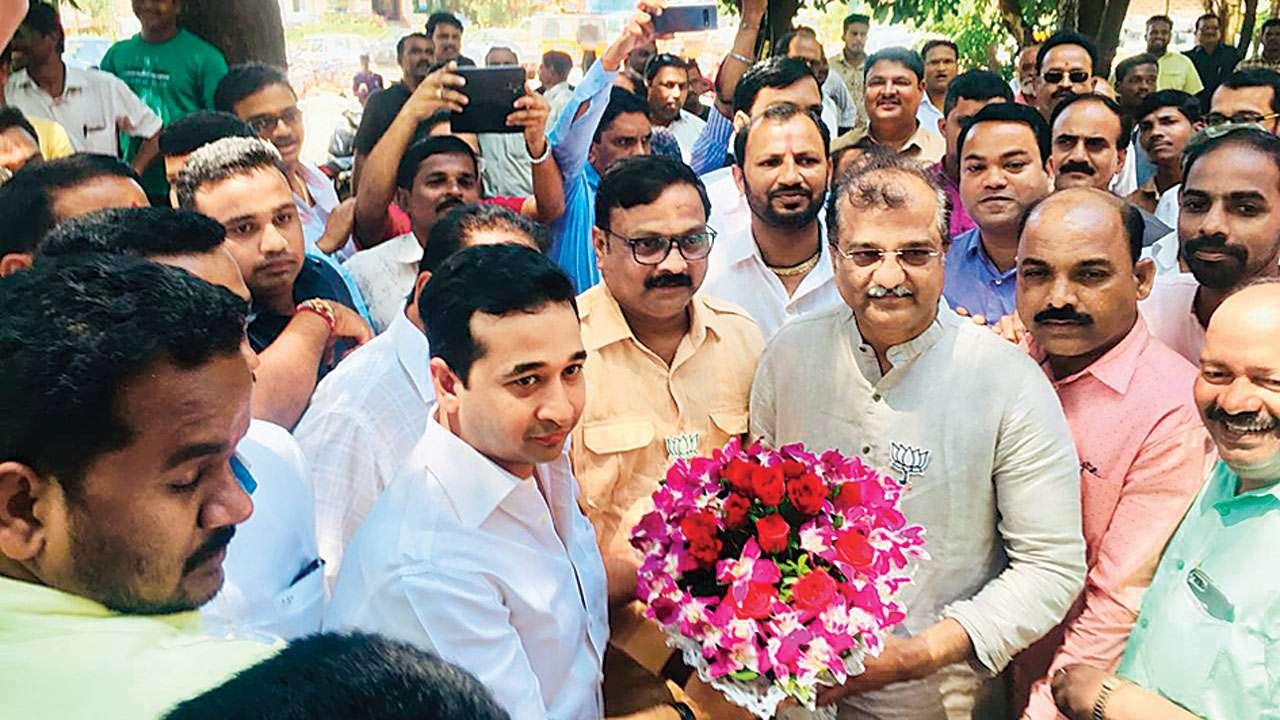 Narayan Rane's son Nitesh joins BJP, to file nomination from Kankavali