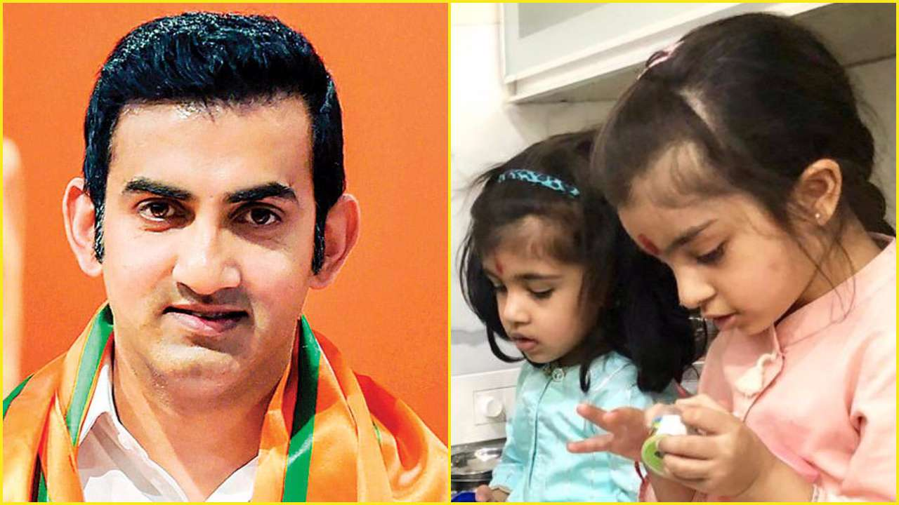 Gautam Gambhir shares picture with daughters with a unique spin to Ashtami Kanjak