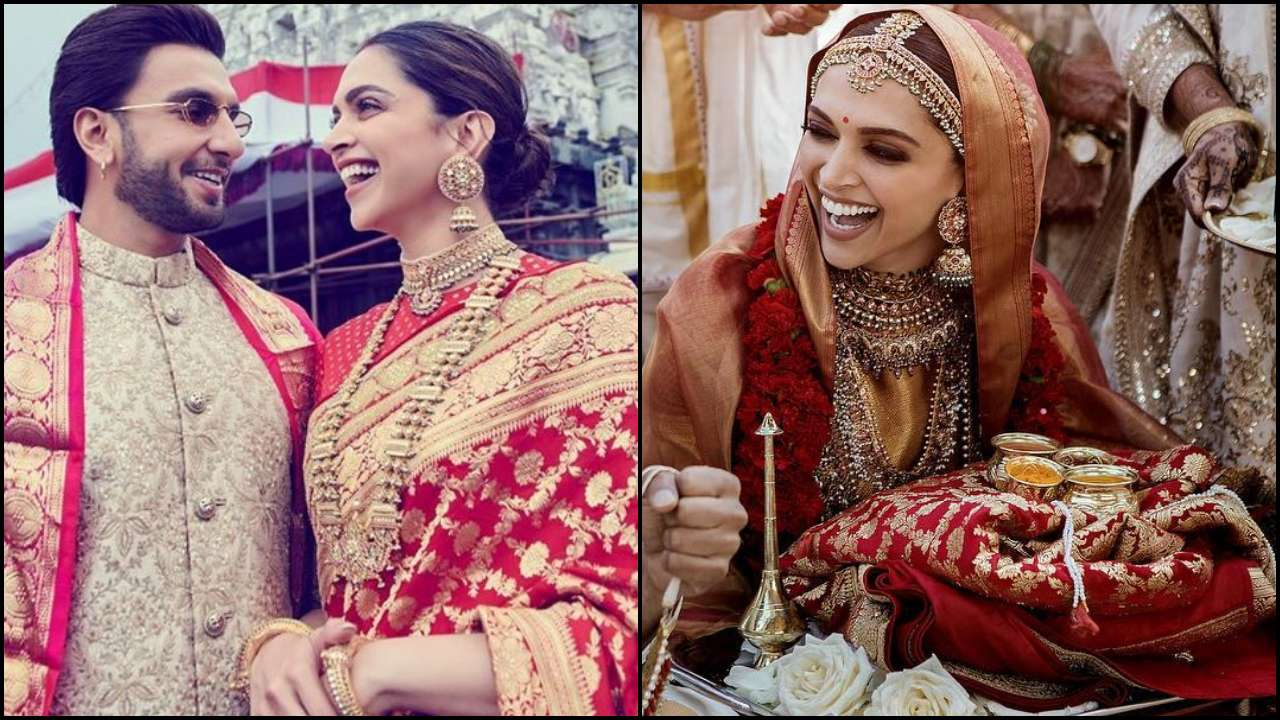 For Anniversary Did Deepika Padukone Wear Sabyasachi Saree Gifted By Ranveer Singh S Family On Their Wedding