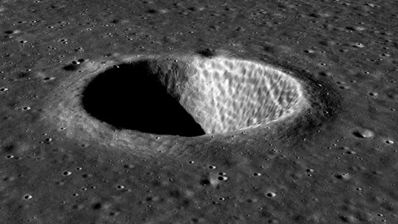ISRO releases 3D image of crater on moon taken by the Chadrayaan 2 orbiter