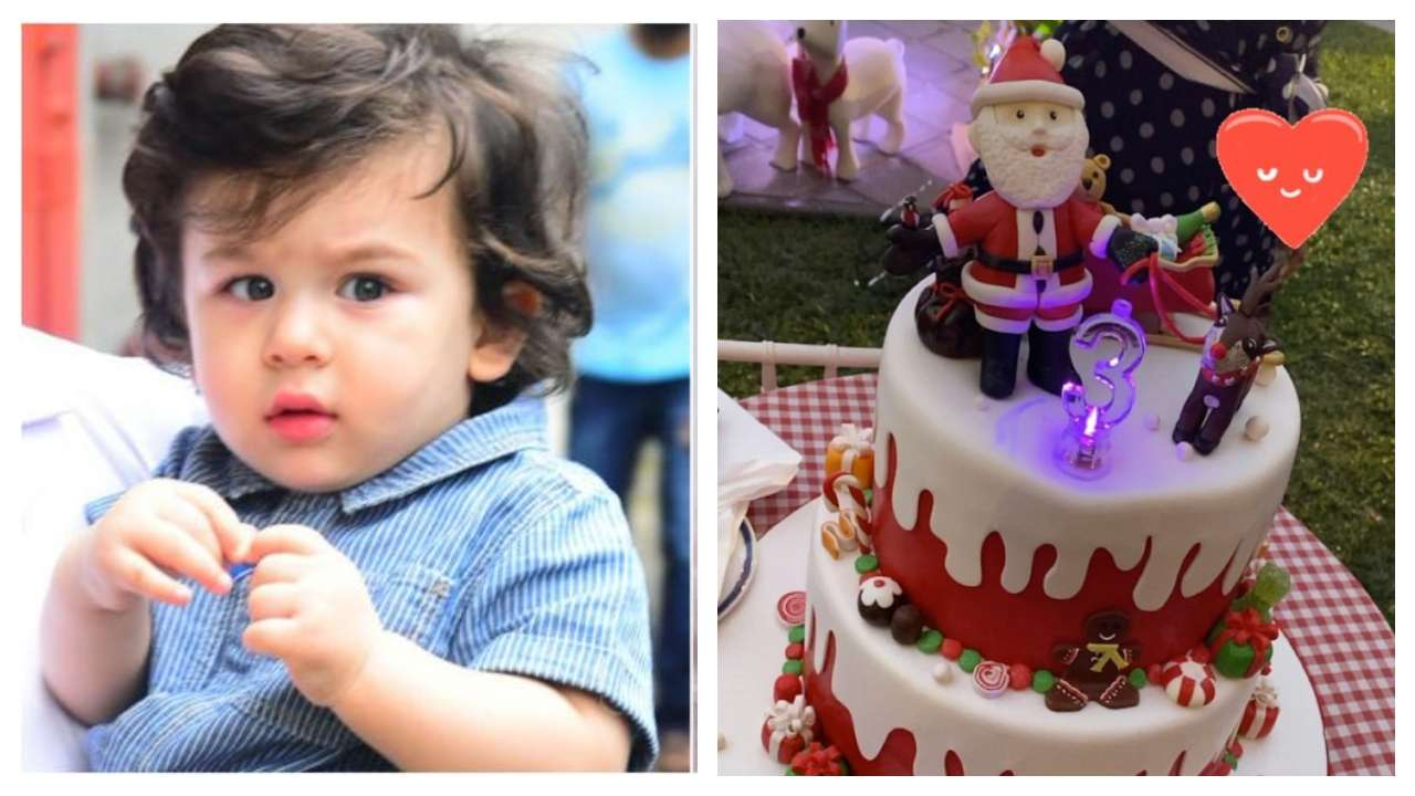 Phenomenal Taimur Ali Khan Christmas Birthday Cake Is Too Yummy For Words Personalised Birthday Cards Veneteletsinfo