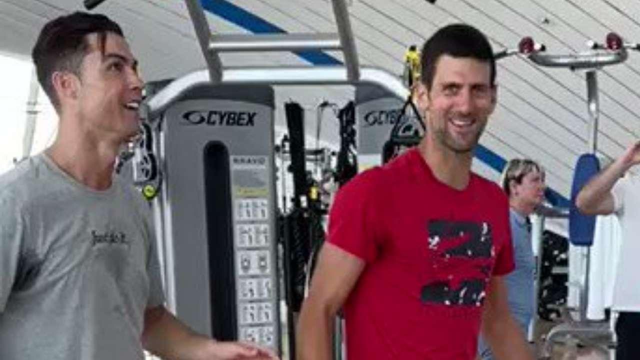Watch Cristiano Ronaldo Teaches Novak Djokovic How To Jump Like Him