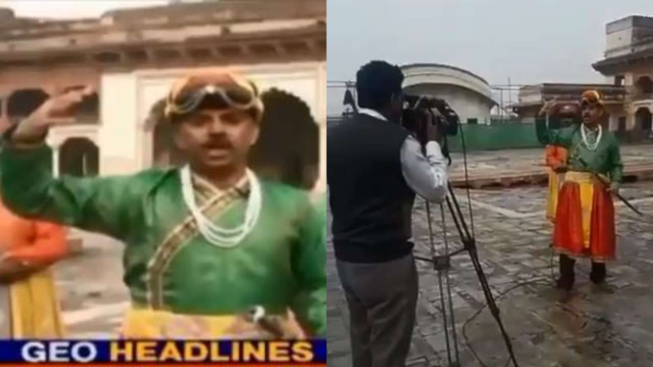 Watch: Pakistan journalist dresses as royal emperor for TV report, video goes viral