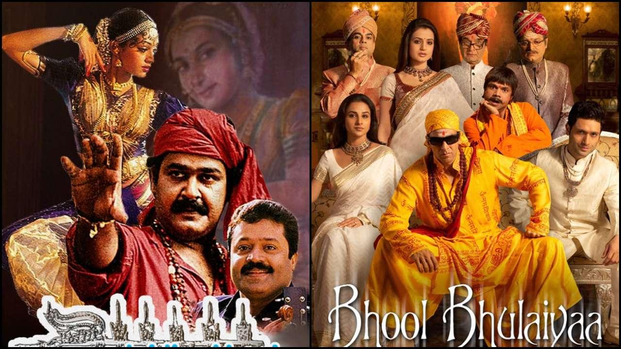 Manichitrathazhu' (Malayalam) - 'Bhool Bhulaiyaa'