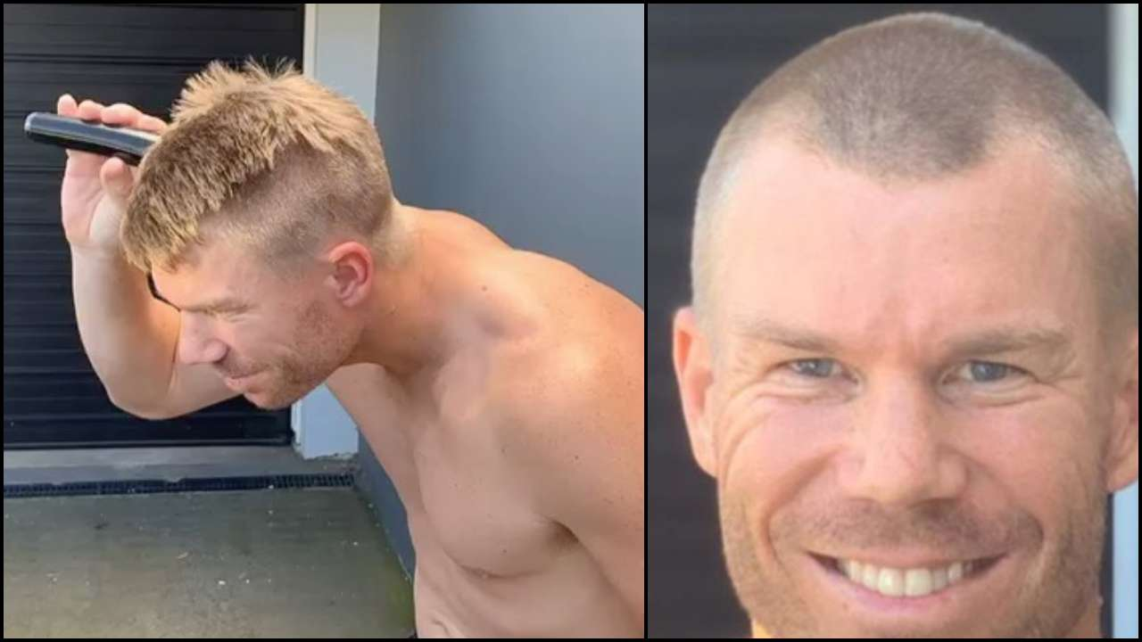 David Warner shaves off his head in support of medical staff amid COVID-19 outbreak, nominates Steve Smith, Virat Kohli