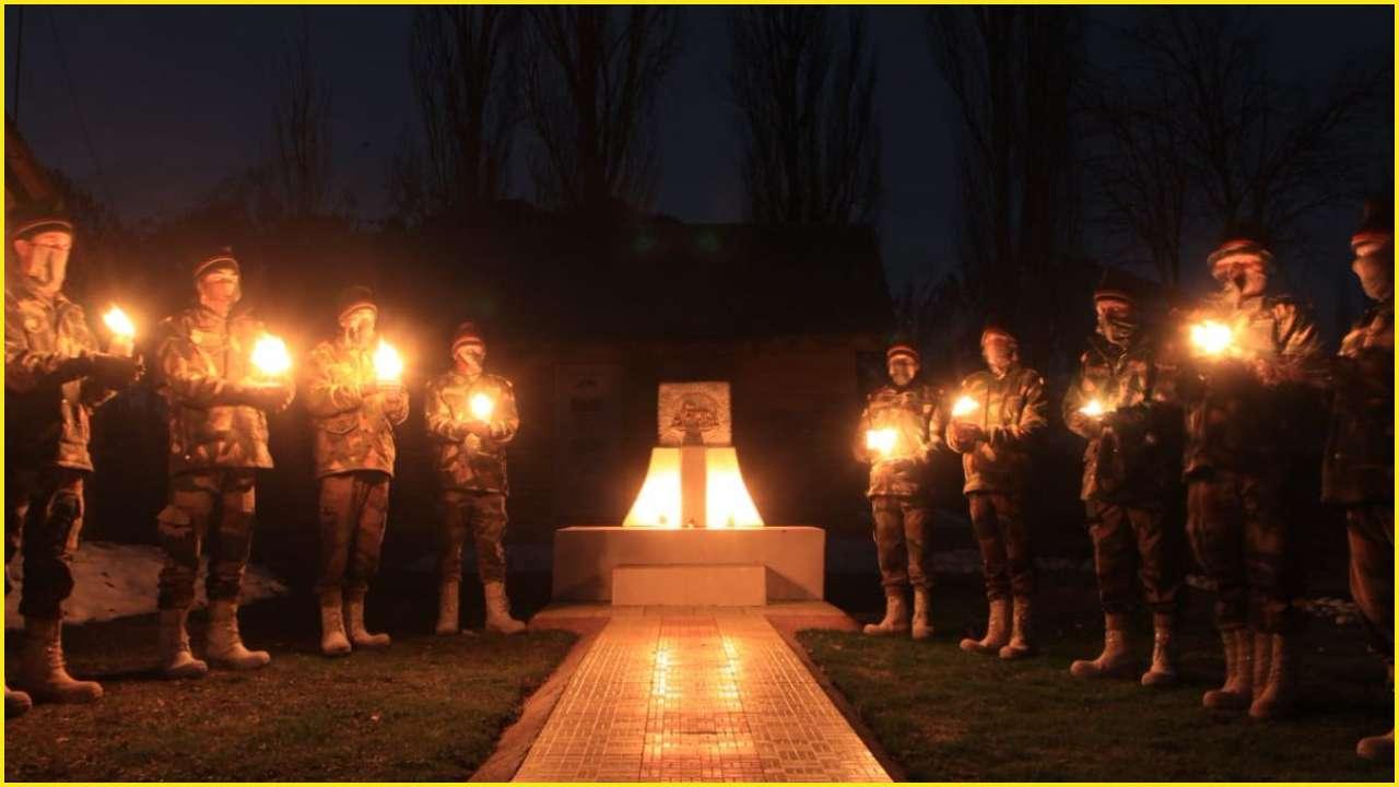 indian army lights candles at forward