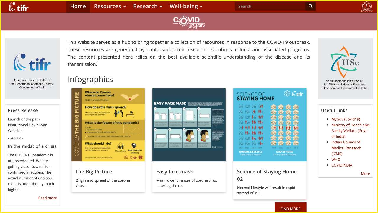 Covidgyan Science Based Website On Covid 19 Launched