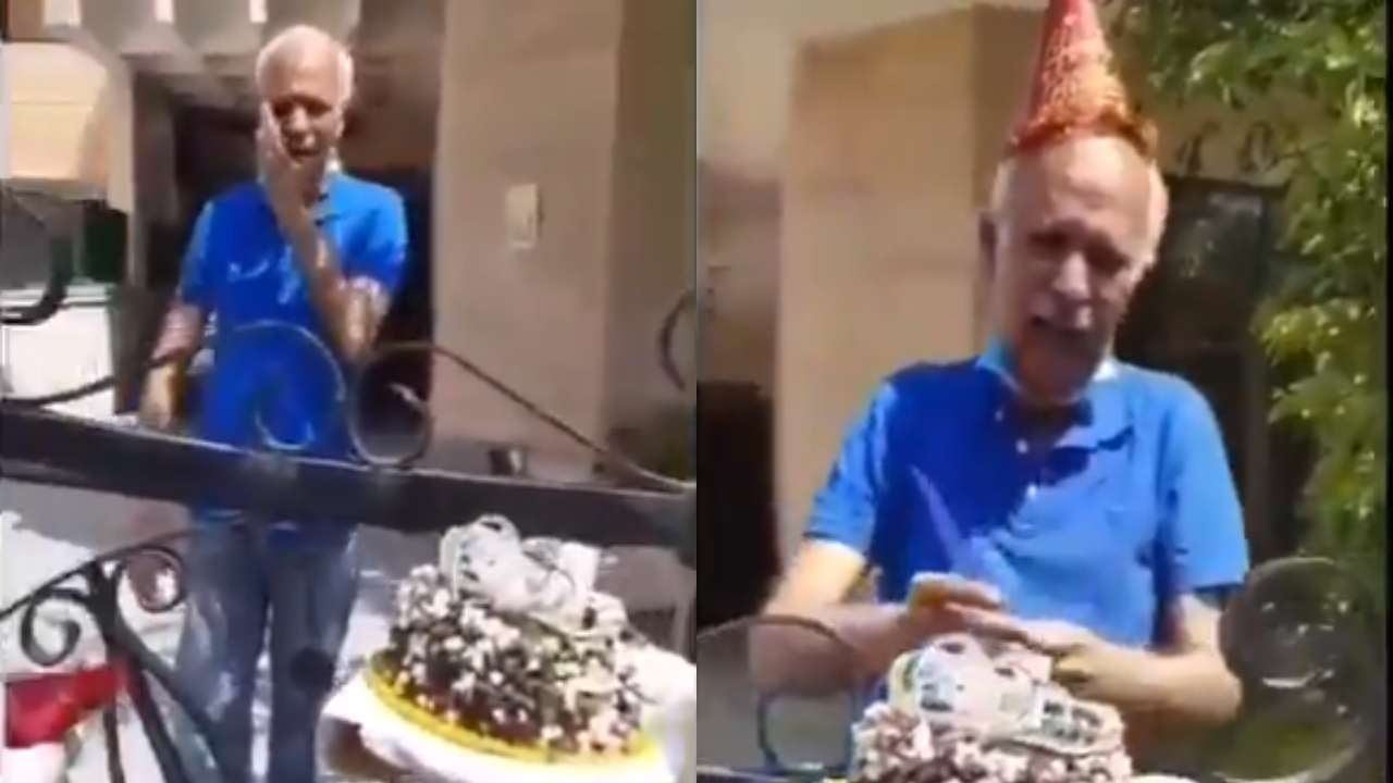 Super Police Surprises Elderly Man With Birthday Cake In Haryanas Funny Birthday Cards Online Alyptdamsfinfo