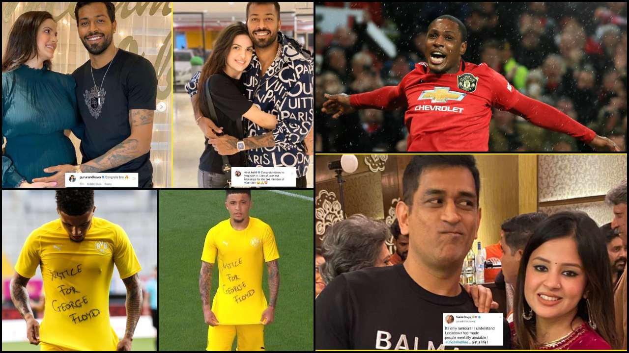 Top sports news: Wishes pour in for Hardik Pandya-Natasa Stankovic, Sancho wears 'Justice for George Floyd' shirt & more