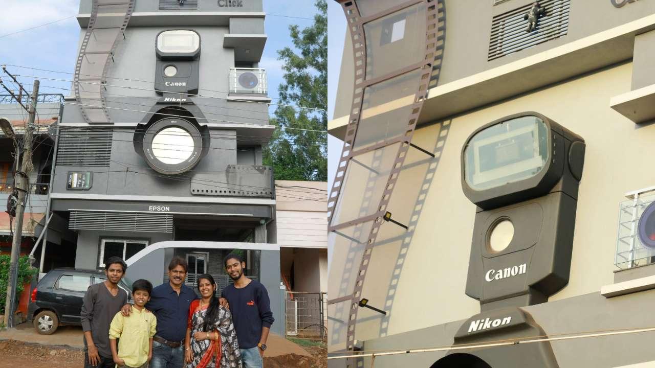 Karnataka photographer built camera-shaped house 'click'