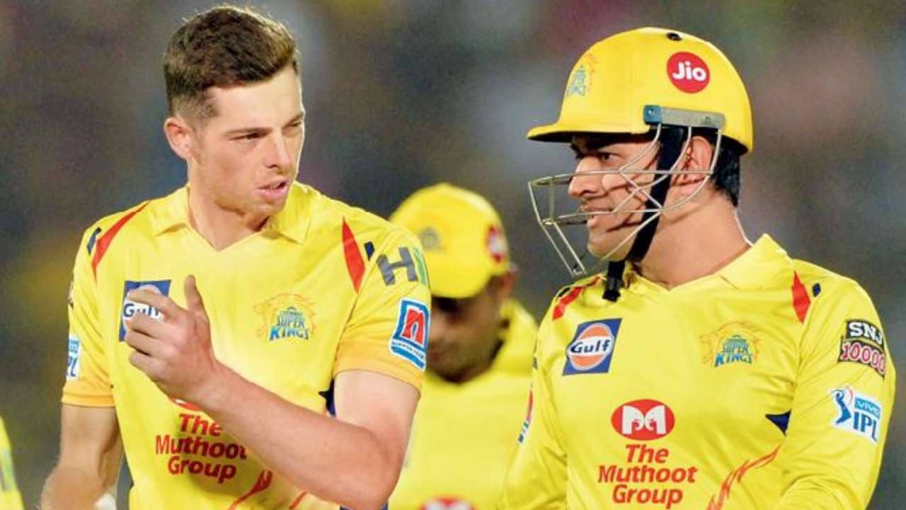 Mitchell Santner and MS Dhoni , AFP File Photo