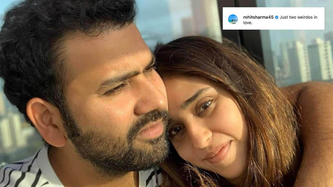 'Two weirdos in love': Hubby Rohit Sharma's goofy post for wife Ritika Sajdeh is too adorable