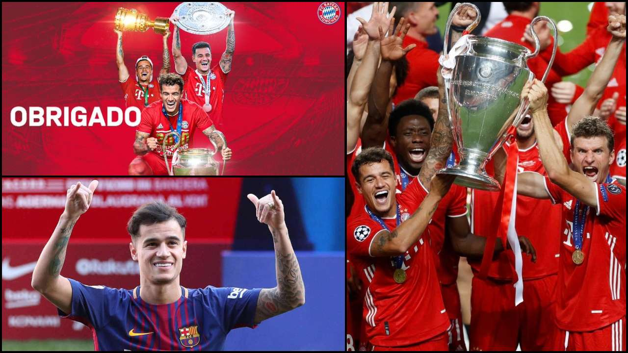 After Helping Bayern Munich Lift Champions League Trophy Coutinho Returns To Barcelona