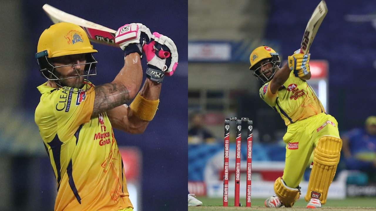 IPL 2020 - Du Plessis, Rayudu's fifties gives CSK big win vs MI