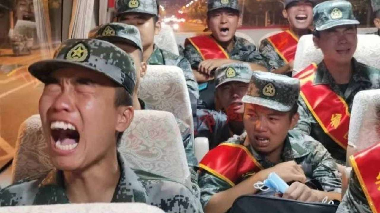 WATCH: Chinese soldiers crying on their way to India border? Video of 'PLA cannon fodder' goes viral