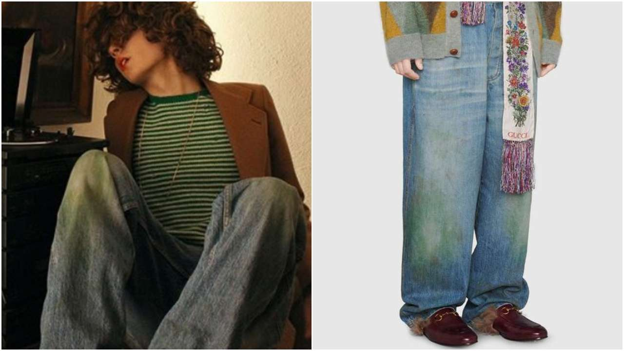 Gucci debuts 'grass-stained' jeans for whopping Rs 1 lakh; leaves netizens in stitches