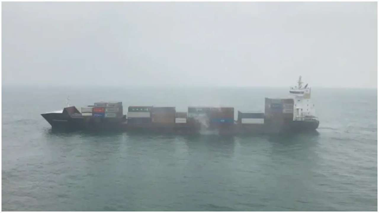 Coast Guard vessels douse fire on container ship X-Press Godavari, ship being escorted to Kolkata