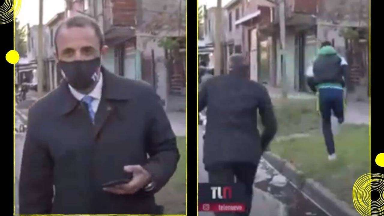 Argentinian reporter robbed of his phone while gearing up for live reporting