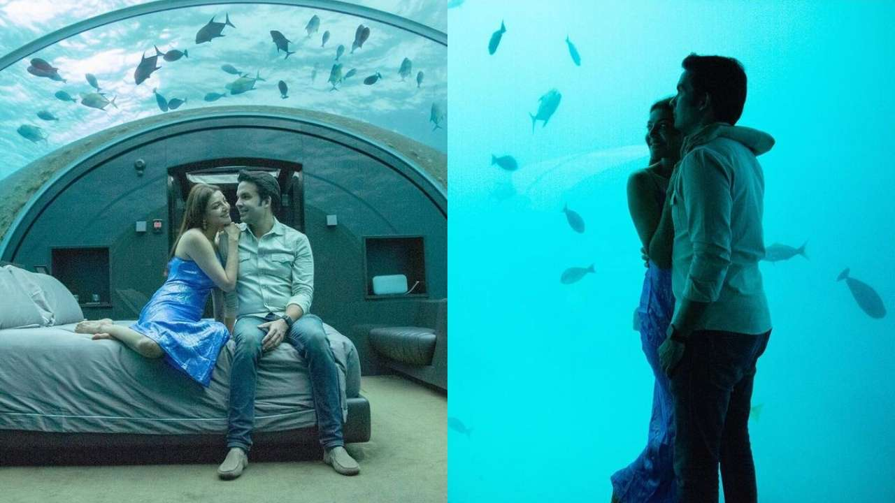 Kajal Aggarwal-Gautam Kitchlu's new pictures from their underwater resort  in Maldives are all things romantic!