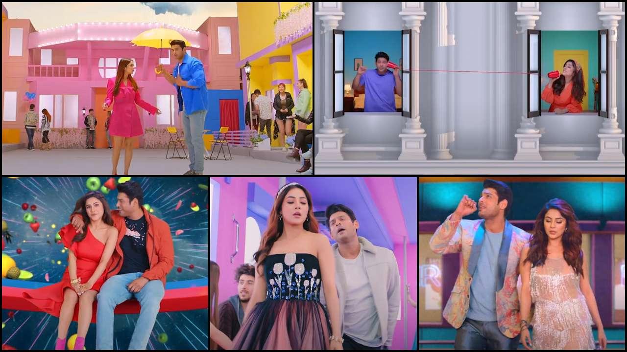 Shona Shona': Sidharth Shukla-Shehnaaz Gill add extra pop of colour in  vibrant music video