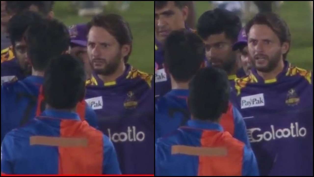 Was scoring 100s before you were born: Shahid Afridi gets into heated exchange with Afghanistan's Naveen-ul-Haq in LPL