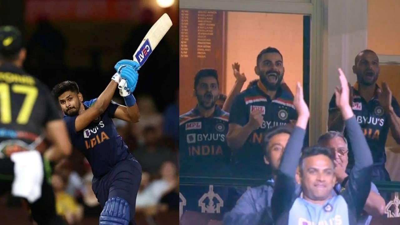 111-metre hit by Iyer that got everyone up on their feet