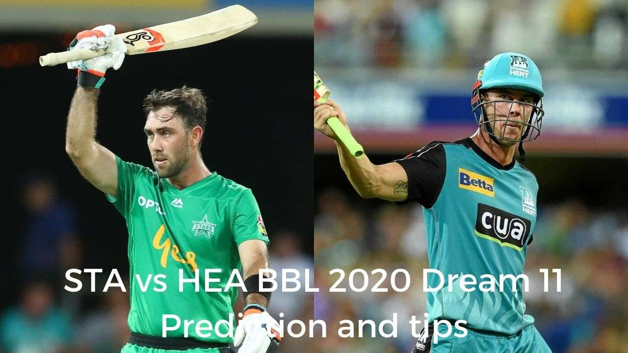Melbourne Stars Vs Brisbane Heat Dream 11 Prediction Best Picks For Sta Vs Hea Big Bash League 2020