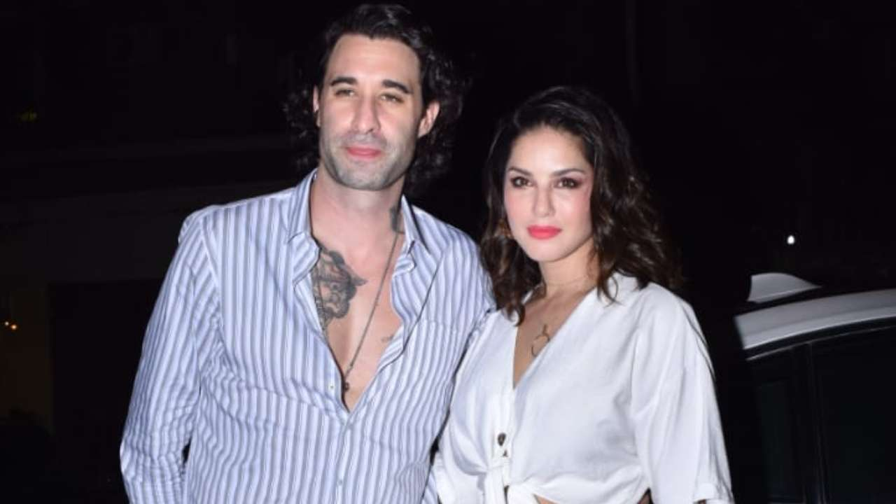 In Pics: Sunny Leone looks stunning as she steps out for New Year dinner with husband Daniel Weber